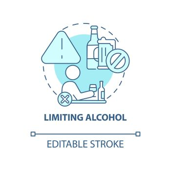 Limiting alcohol concept icon