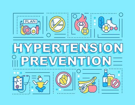 Hypertension prevention word concepts banner