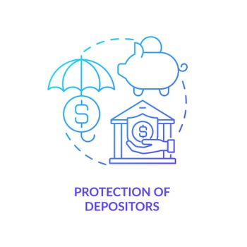 Deposit guarantee providing concept icon