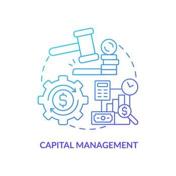Wealth management concept icon