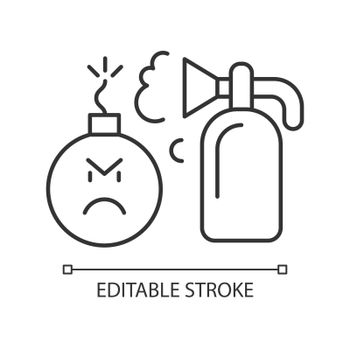 Extinguishing emotions linear icon