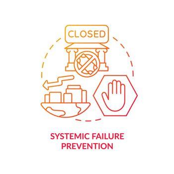 Economic collapse prevention concept icon