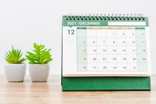 December 2021 Desk calendar