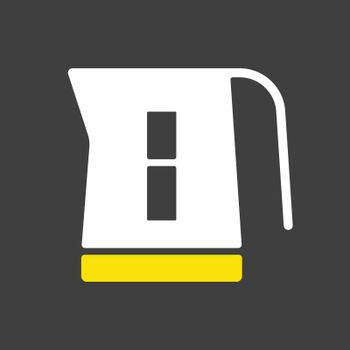 Electric kettle vector icon. Kitchen appliance