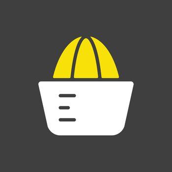 Lemon squeezer vector icon. Kitchen appliance
