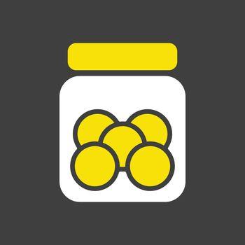 Cookie jar vector icon. Kitchen appliance