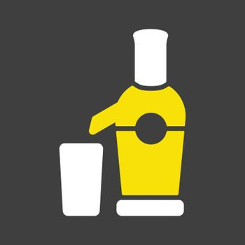 Electric juicer vector icon. Kitchen appliance