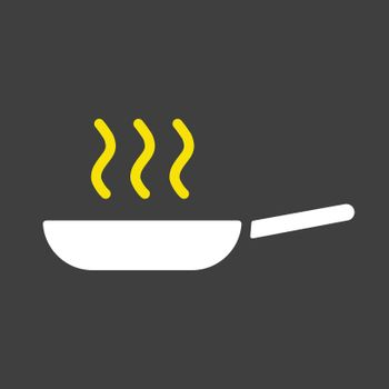 Frying pan vector icon. Kitchen appliance