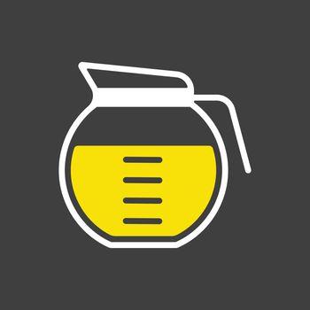 Coffee maker vector icon. Kitchen appliance