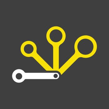 Measuring spoons vector icon. Kitchen appliance