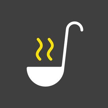 Soup ladle vector icon. Kitchen appliance