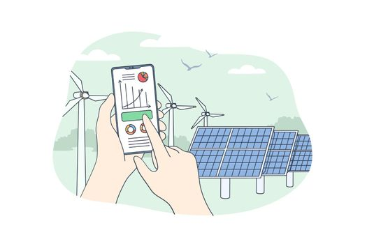 Sustainable renewable energy concept