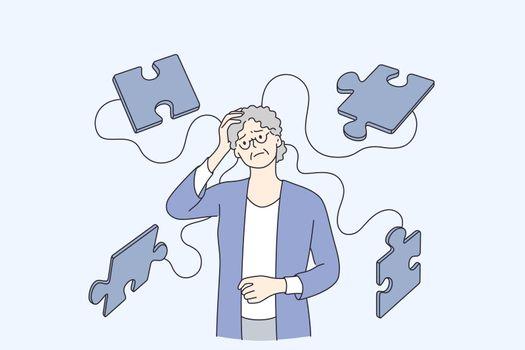Alzheimer illness disease patients concept
