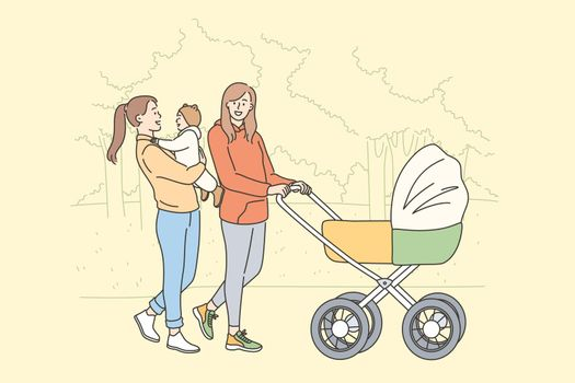 Motherhood and maternity happiness concept
