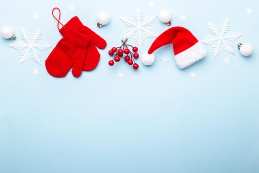 Red Christmas or New year ornaments
