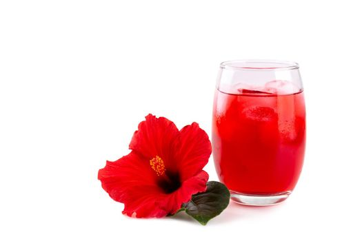 Cold refreshing hibiscus iced ted