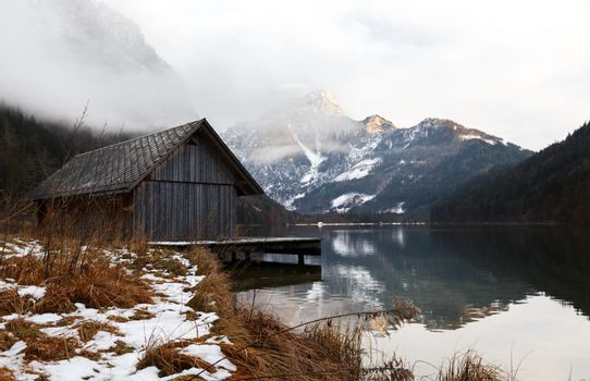 Lake Leopoldstein or Turquoise perl in Austria