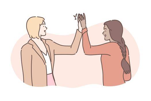 Friendship, success, business, congratulation concept