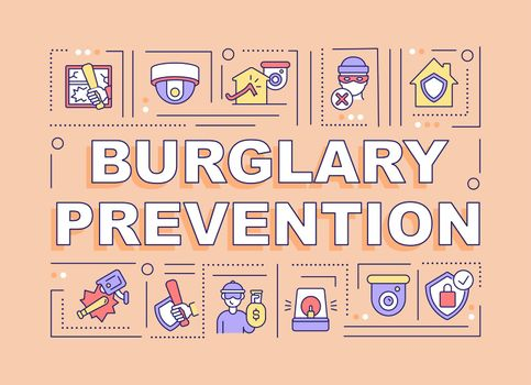 Burglary prevention word concepts banner