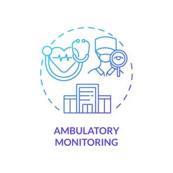 Ambulatory monitoring concept icon