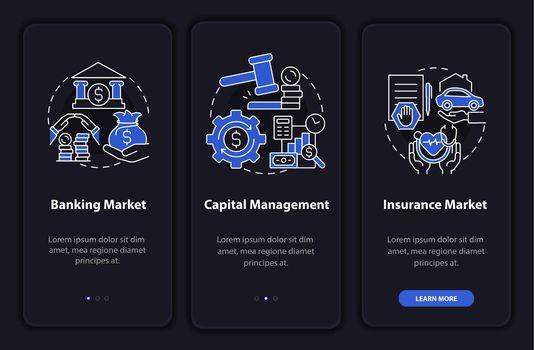 Financial legislation onboarding mobile app page screen