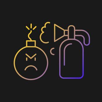 Extinguishing emotions vector icon for dark theme