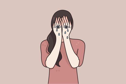 Sorrow, grief, despair concept