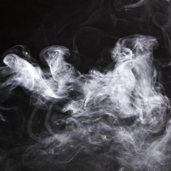 fumes smoke spread black backdrop. High quality beautiful photo concept