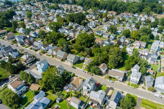 Aerial view of single family homes, a residential district East Brunswick New Jersey