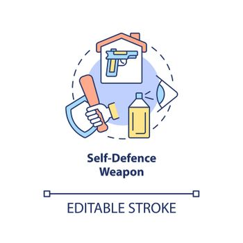 Self defence weapon concept icon