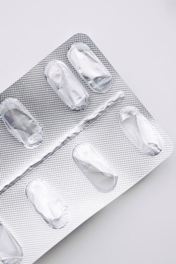 Empty pills packaging, healthcare and medicine
