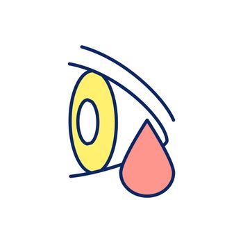 Bleeding in eye RGB color icon