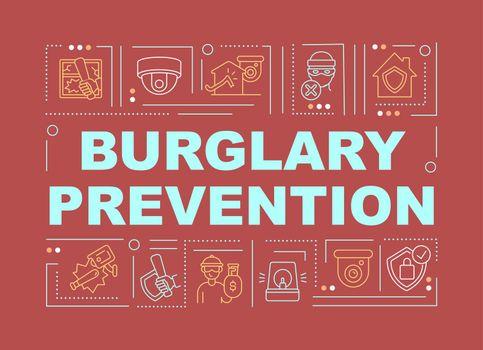 Break in prevention word concepts banner