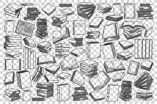 Bookstore doodle set