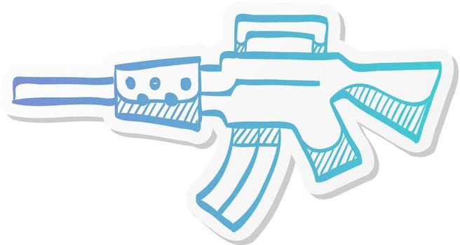 Sticker style icon - Vintage Firearm
