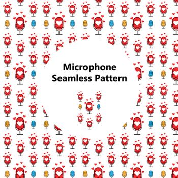 microphone seamless pattern. Perfect for crafts projects, background, graphic design, scrapbooking and other
