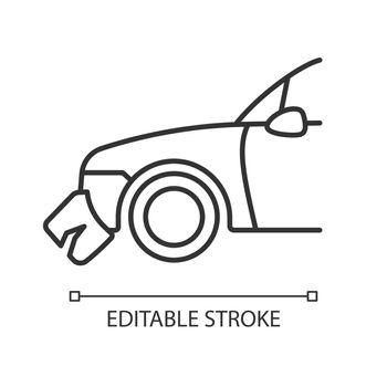 Broken bumper linear icon