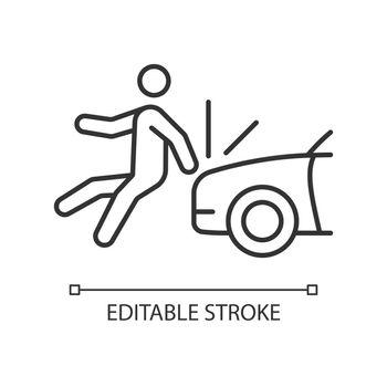 Collision involving pedestrian linear icon
