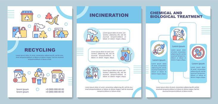 Waste disposal methods brochure template
