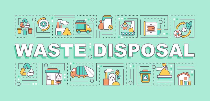 Waste disposal word concepts banner