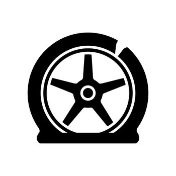 Tyre damage black glyph icon