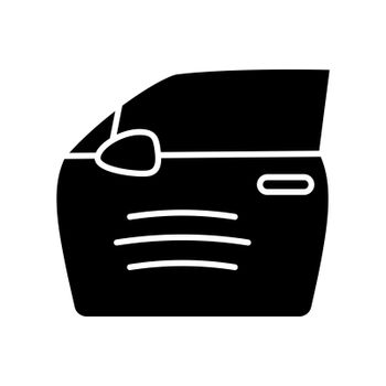 Paint scratch on car black glyph icon