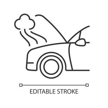 Car engine damage linear icon