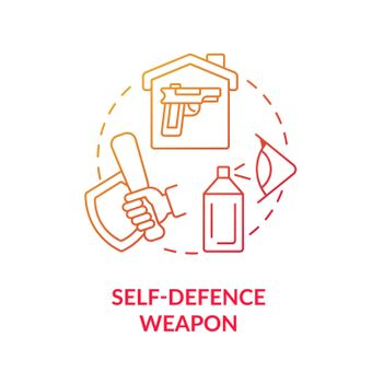 Self defence weapon blue gradient concept icon
