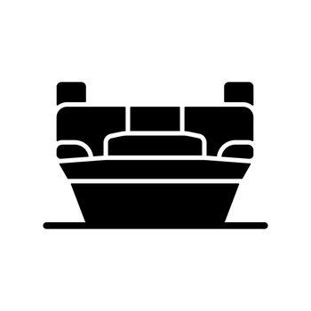 Rollover crash black glyph icon