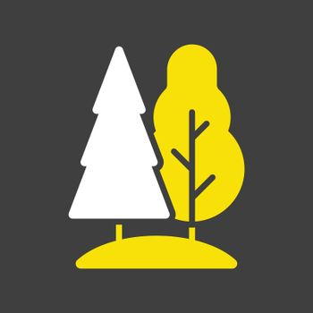 Deciduous and conifer forest vector icon
