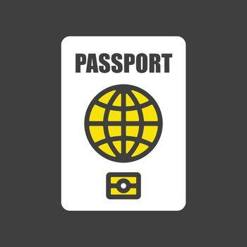 Passport vector icon, identification symbol
