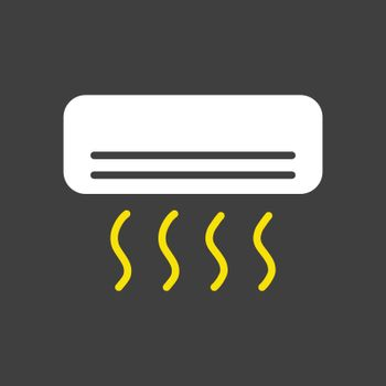 Split-system air conditioner flat vector icon
