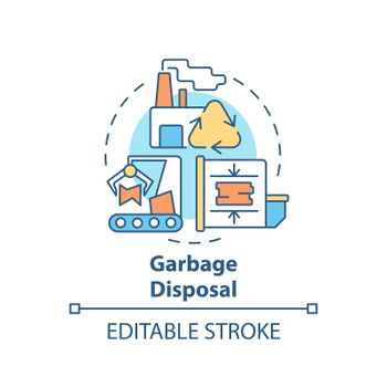 Garbage disposal concept icon