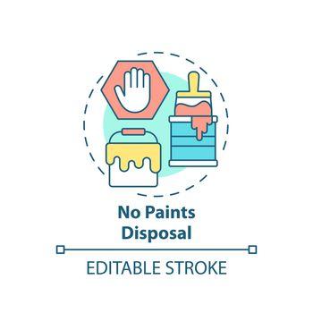 No paints disposal concept icon